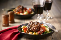 Braised Beef Short Ribs paired with Italy Barbaresco Style with Grape Skins