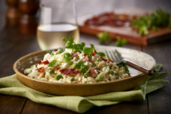 Orzo with Peas and Goat Cheese Recipe paired with New Zealand Fumé Blanc