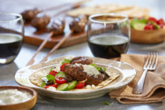 Smoky Beef Koftas Paired with Chile Corazón