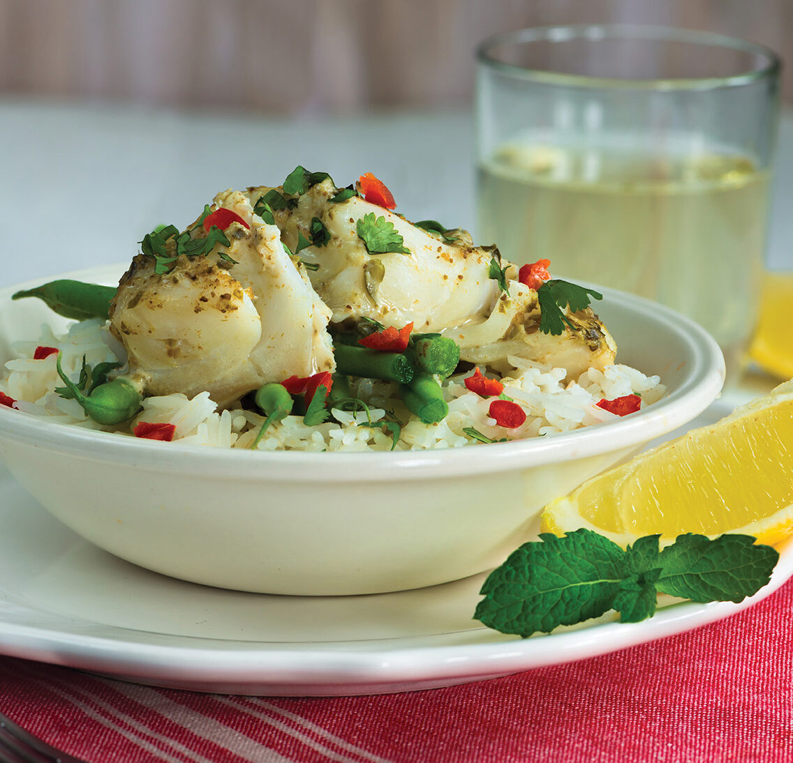 Coconut Curry Poached Cod